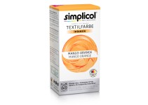 Совместная закупка - Краска для окрашивания текстиля оранжевая Simplicol INTENSIV 150 мл + 400 г. фиксатор