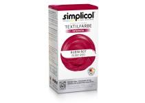 Совместная закупка - Краска для окрашивания текстиля Simplicol INTENSIV темно-красная 150 мл + 400 г. фиксатор