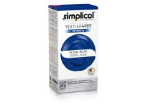Совместная закупка - Краска для окрашивания текстиля Simplicol INTENSIV синяя 150 мл + 400 г. фиксатор