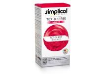 Совместная закупка - Краска для окрашивания текстиля Simplicol INTENSIV красная 150 мл + 400 г. фиксатор