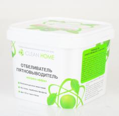 Отбеливатель пятновыводитель CLEAN HOME экспресс-эффект (порошок), 1000 г